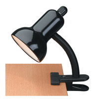 Clip-on 12 inch 60 watt Black Clamp-on Lamp Portable Light