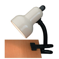 Clip-on 12 inch 60 watt Ivory Clamp-on Lamp Portable Light
