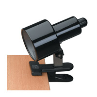 Lite Source Clip-on 1 Light Clamp-on Lamp in Black LS-112BLK