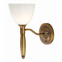 Lite Source Daffodil 1 Light Wall Lamp in Bronze with White Glass LS-11315BRZ/WHT