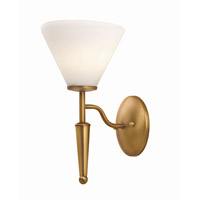 Lite Source Martini 1 Light Wall Lamp in Bronze with White Glass LS-11325BRZ/WHT