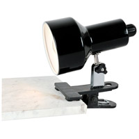 Clip-on II 7 inch 60 watt Black Clamp-on Lamp Portable Light