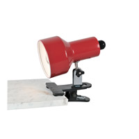 Lite Source Clip-on II 1 Light Clamp-on Lamp in Red LS-114RED