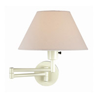 Lite Source Swinger 1 Light Wall Lamp in Ivory with Off-White Shade LS-1171IVY