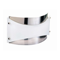 Lite Source Luminari 2 Light Sconce in Polished Steel with Frost Glass LS-1345PS