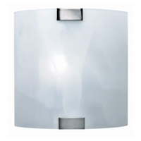 Lite Source Nimbus 1 Light Sconce in Polished Steel with Cloud Glass Shade LS-1395CLOUD
