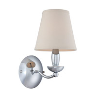 Lite Source Althea 1 Light Wall Lamp in Chrome with White Fabric Shade LS-13991C