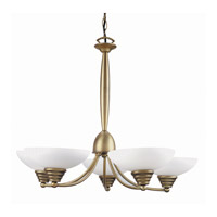 Lite Source Maestro 5 Light Chandelier in Bronze with Frost Glass LS-14145BRZ