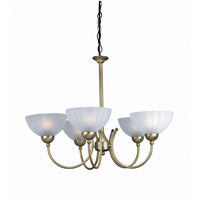 Lite Source Alani 5 Light Chandelier in Bronze with Frost Glass LS-14155BRZ/FRO