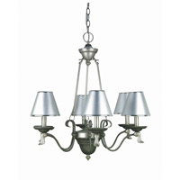 Lite Source Laurel 6 Light Chandelier with Silver Paper Shade LS-14656