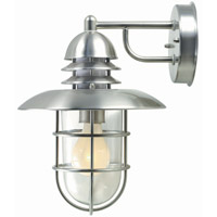 Lite Source Lamppost 1 Light Outdoor Wall Lantern in Stainless Steel LS-1468STS
