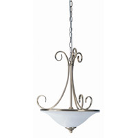 Renaissance 2 Light 15 inch Antique Brass Pendant Ceiling Light
