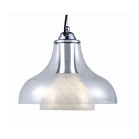 Lite Source Opal 1 Light Pendant with Diamond-Accented Glass LS-1489