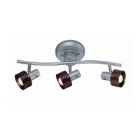 Lite Source Duccio 3 Light Flush Mount in Silver with Dark Walnut Shade LS-16093