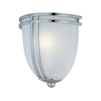 Finnegan 1 Light 8 inch Chrome Sconce Wall Light