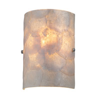 Lite Source Shelley 1 Light Sconce in Polished Steel with Shell Glass Shade LS-16112