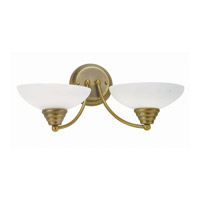 Lite Source Maestro 2 Light Wall Lamp in Bronze with Frost Glass Shade LS-16142BRZ