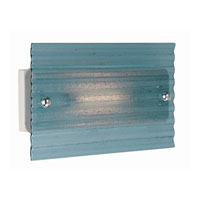 Lite Source Kaiya 1 Light Sconce with Blue Waved Glass Shade LS-1614BLU