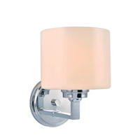 Lite Source Darra 1 Light Wall Lamp in Chrome with Frost Glass Shade LS-16161