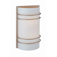Strokes 2 Light 8 inch Satin Steel Sconce Wall Light