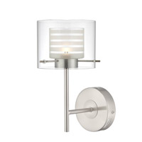 Lite Source Vito LED Wall Lamp in Polished Steel with Double Glass Shade LS-16247