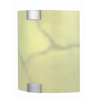 Lite Source Nimbus 1 Light Sconce in Polished Steel with Glass Shade LS-1627