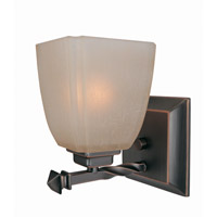 Lite Source Nita 1 Light Wall Lamp in Copper Bronze with Woven Pattern Glass Shade LS-16287CP/BRZ