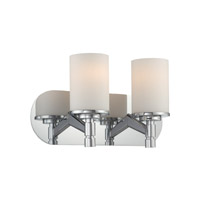 Lina 2 Light 15 inch Chrome Vanity Wall Light