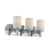 Lina 3 Light 22 inch Chrome Vanity Wall Light