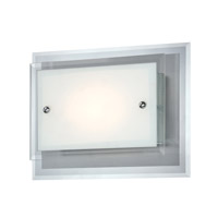 Lite Source Fia 1 Light Sconce in White with Glass Shade LS-16317