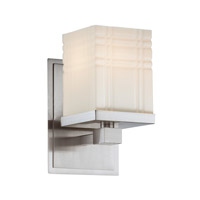Lite Source LS-16341 Benicio 1 Light 5 inch Polished Steel Wall Lamp Wall Light