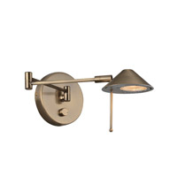 Lite Source Rhine 1 Light Wall Lamp in Antique Brass LS-16350AB