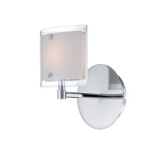 Lite Source Icety 1 Light Wall Lamp in Chrome with Frost Glass LS-16351
