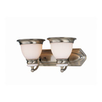 Lite Source Carter 2 Light Vanity in Antique Brass with Frost Glass Shade LS-16422AB/FRO