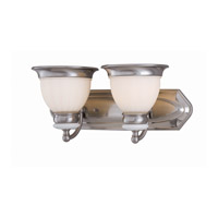 Lite Source Carter 2 Light Vanity in Polished Steel with Frost Glass Shade LS-16422PS/FRO