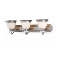 Lite Source Carter 3 Light Vanity in Polished Steel with Frost Glass Shade LS-16423PS/FRO