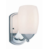 Lite Source Karston 1 Light Wall Lamp in Chrome with Frost Glass Shade LS-16441C/FRO