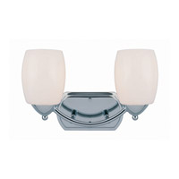 Lite Source Karston 2 Light Vanity in Chrome with Frost Glass Shade LS-16442C/FRO