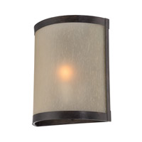 Lite Source Zerlam 1 Light Sconce in Aged Bronze with Glass Shade LS-16471