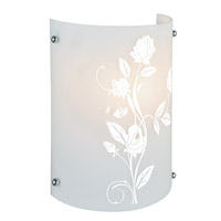 Lite Source Hanna I 1 Light CFL Sconce with Printed Frost Glass Shade LS-16476