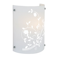 Lite Source Hanna II 1 Light CFL Sconce with Printed Frost Glass Shade LS-16477