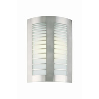 Lite Source Graf 2 Light Sconce in Polished Steel with Frost Glass Shade LS-1649PS/FRO
