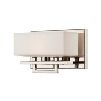Lite Source Pascala 1 Light Wall Lamp in Chrome with Frost Glass Shade LS-16501