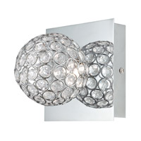 Orsino LED 6 inch Chrome and Clear Acrylic Wall Lamp Wall Light