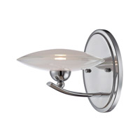 Lite Source Calandra 1 Light Wall Lamp in Chrome with Frost Glass Shade LS-16561