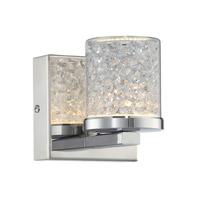 Lite Source LS-16581 Kristen 1 Light 4 inch Chrome Wall Lamp Wall Light