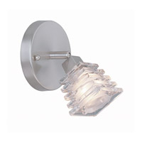 Lite Source Avis 1 Light Wall Lamp in Polished Steel with Clear Glass Shade LS-16641PS/CLR