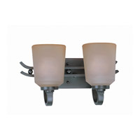 Lite Source LS-16742 Rupert 2 Light 15 inch Aged Copper Vanity Wall Light