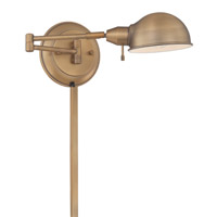 Rizzo 13 watt Antique Brass Swing Arm Lamp Wall Light