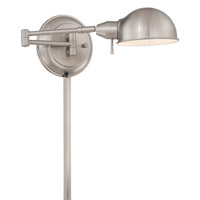 Lite Source LS-16753PS Rizzo 13 watt Polished Steel Swing Arm Lamp Wall Light